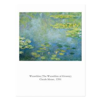 Postal Waterlilies de Monet