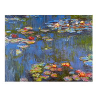 Postal Waterlillies de Claude Monet