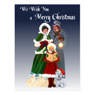 Postal Westies y villancicos del navidad de la familia