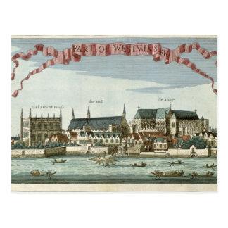 Postal Westminster que muestra la abadía