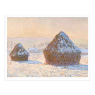 Postal Wheatstacks de Claude Monet