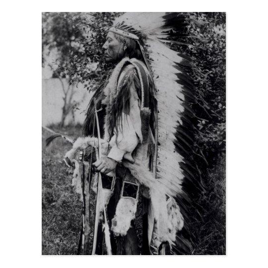 Postal White Wolf, jefe del Comanche, c.1891-98