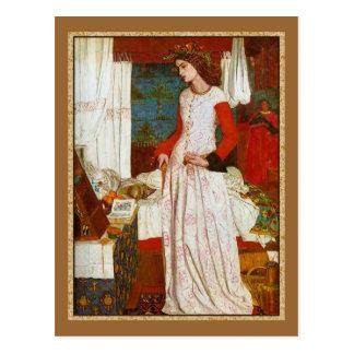 Postal ~ William Morris de Iseult de la belleza del La