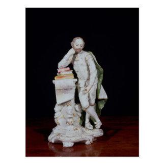 Postal William Shakespeare, sobre la base del monumento