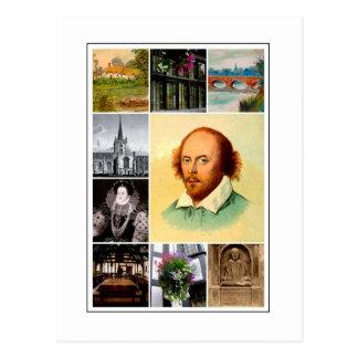 Postal William Shakespeare y Stratford-sobre-Avon