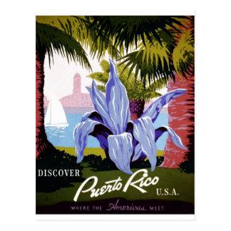 Postal WPA - descubra Puerto Rico