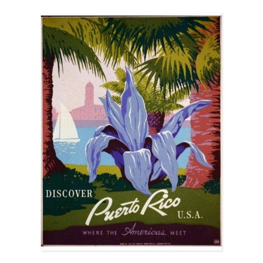 Postal WPA - visita Puerto Rico