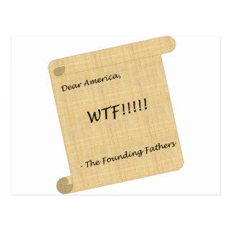 Postal ¡WTF!!! de los fundadores