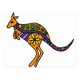 Postal XX arte del canguro
