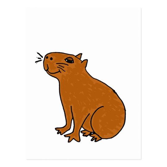 Postal XX arte del Capybara