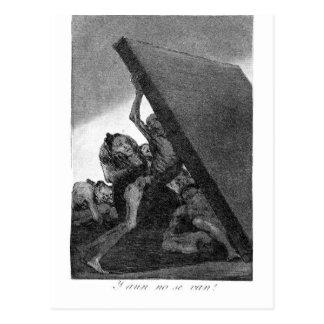 Postal Y todavía no irán por Francisco Goya