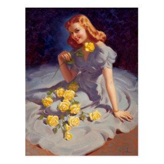 Postal Yellow Roses