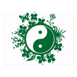 Postal Yin floral Yang