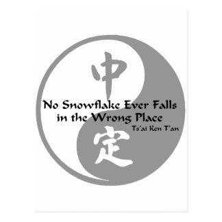 Postal Yin Yang - ninguna escama de la nieve