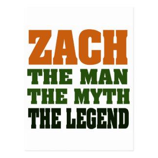 Postal ZACH - el hombre, el mito, la leyenda
