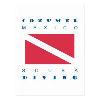Postal Zambullida del equipo de submarinismo de Cozumel