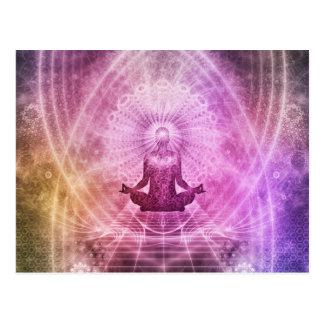 Postal Zen espiritual de la meditación de la yoga