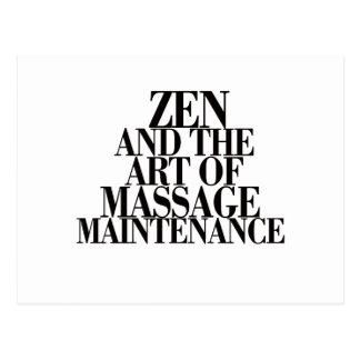 Postal ZEN y el arte del MASAJE