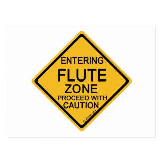 Postal Zona de la flauta que entra