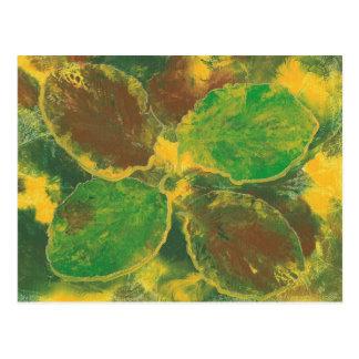 Postales abstractas de las hojas de otoño del