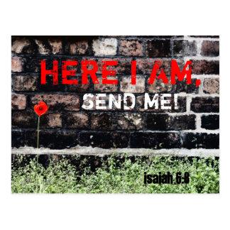 Postales; Aquí estoy me envío Postal
