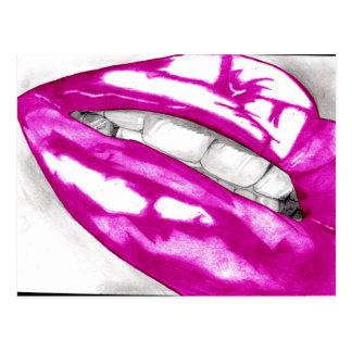 Postales calientes de los labios (magentas)