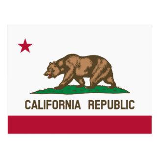 Postales californianas de la bandera para la