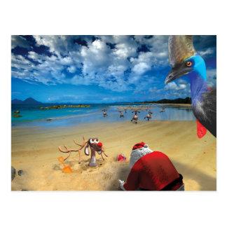 Postales chistosas del peregrinaje de Santa
