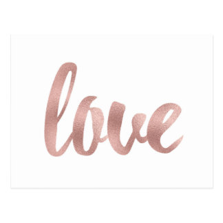 Postales color de rosa del amor del oro