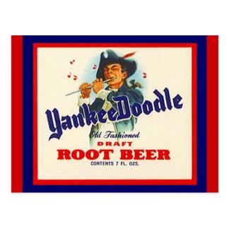 Postales de la cerveza de raíz del Doodle del