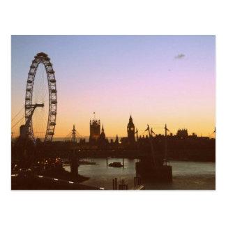 Postales de la puesta del sol de Waterloo
