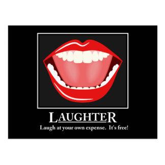 Postales de motivación de la risa divertida grande postal