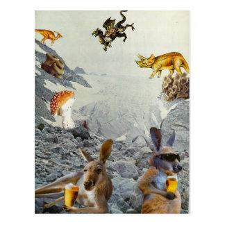 Postales del día de fiesta del canguro