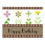 Postales del feliz cumpleaños del jardín de la pri