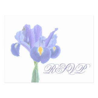Postales del iris de RSVP del boda
