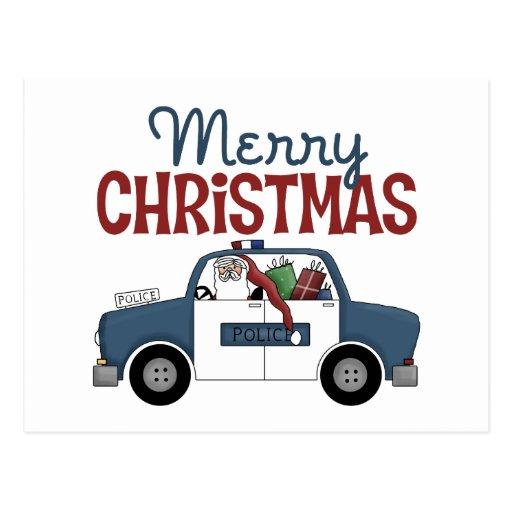 Postales del navidad de la policía de las Felices  Zazzle