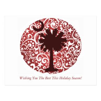 Postales del navidad del árbol y de la luna del