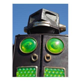 Postales del robot del juguete del vintage