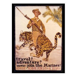 Postales del tiempo de guerra, infantes de marina
