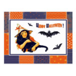 Postales divertidas de Halloween del chica del