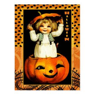 Postales divertidas de Halloween del niño del