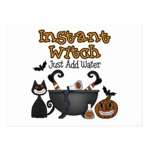 Postales divertidas de la bruja de Halloween
