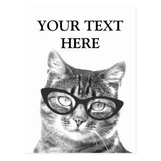 Postales divertidas de la foto del gato