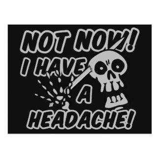 Postales divertidas del cráneo del dolor de cabeza