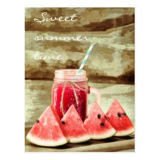 Postales dulces del verano de la sandía