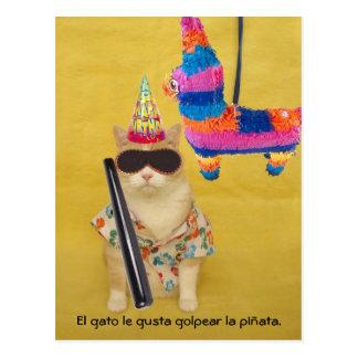 Postales españolas del mascota divertido para la