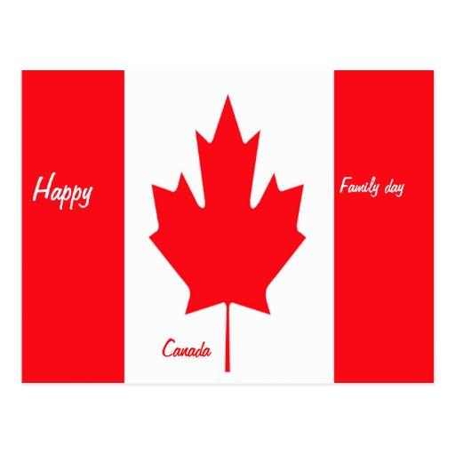Postales felices de Canadá del día de la familia