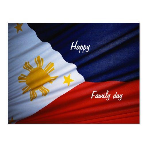 Postales felices de Filipinas del día de la famili
