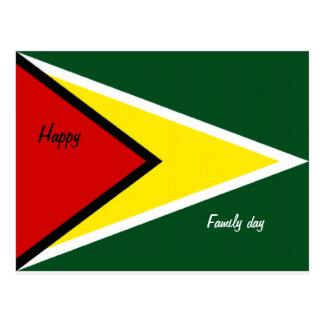 Postales felices de Guyana del día de la familia