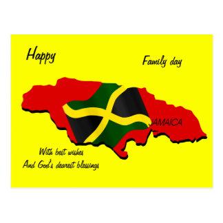 Postales felices de Jamaica del día de la familia